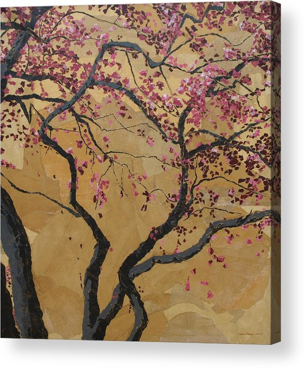 Tree Acrylic Print featuring the painting Blooming Prairie Fire by Leah Tomaino