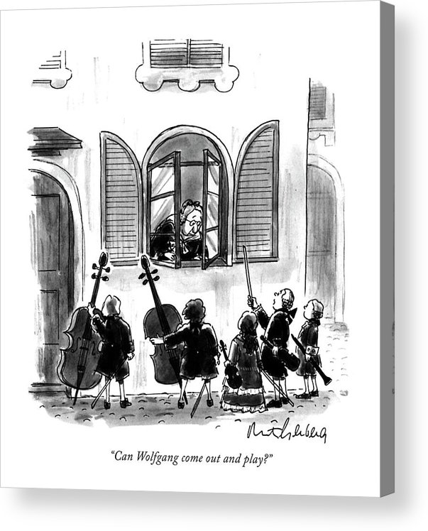 Acrylic Print featuring the drawing Can Wolfgang Come Out And Play? by Mort Gerberg