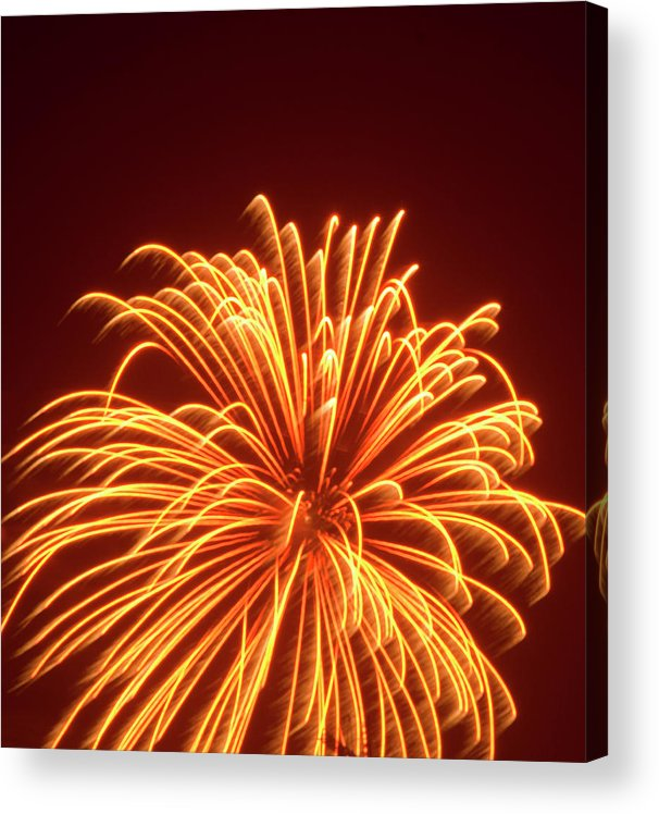 Orange Color Acrylic Print featuring the photograph Fireworks by Dennis Mccoleman