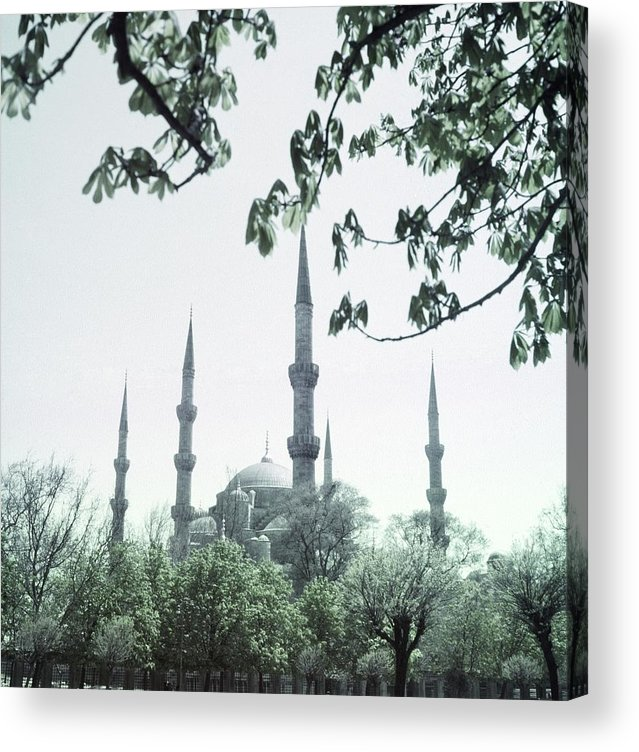 Turkey Acrylic Print featuring the photograph Mosque Behind Trees In Turkey by Horst P. Horst