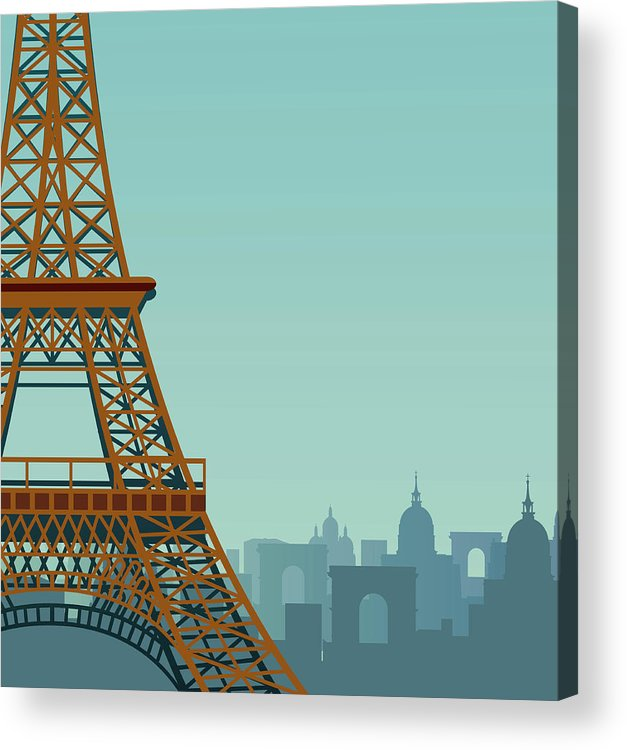 Built Structure Acrylic Print featuring the digital art Paris by Drmakkoy