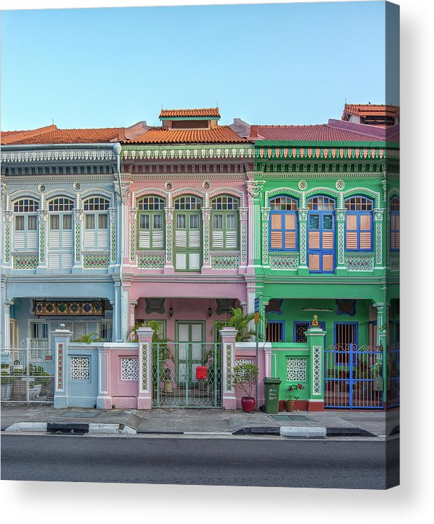 Tranquility Acrylic Print featuring the photograph Peranakan Architecture by Edward Tian