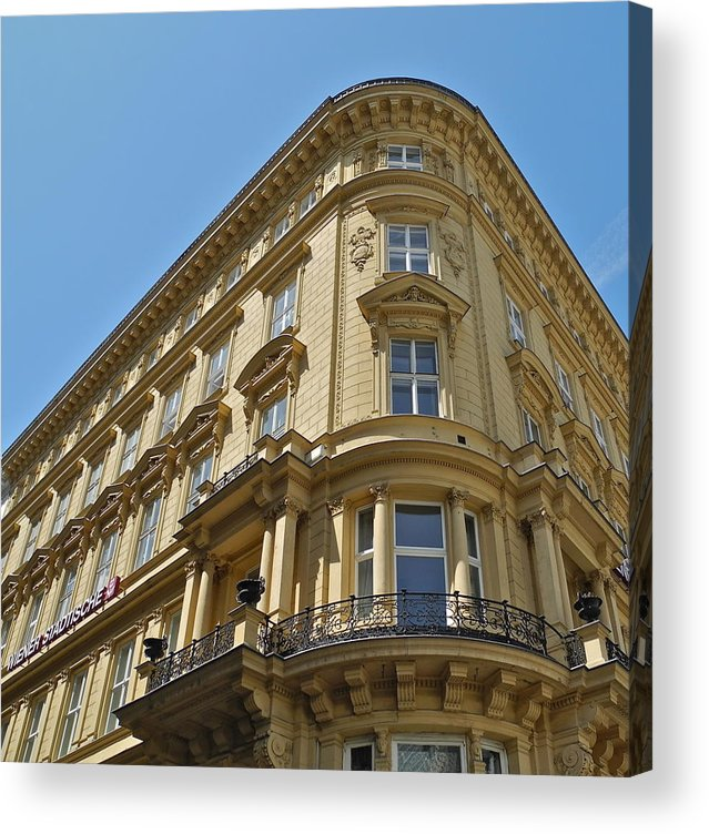 Building Acrylic Print featuring the photograph Classical Architecture in Vienna by Kirsten Giving