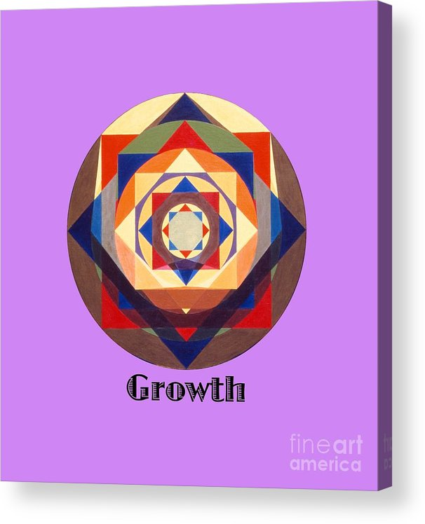 Painting Acrylic Print featuring the painting Growth text by Michael Bellon