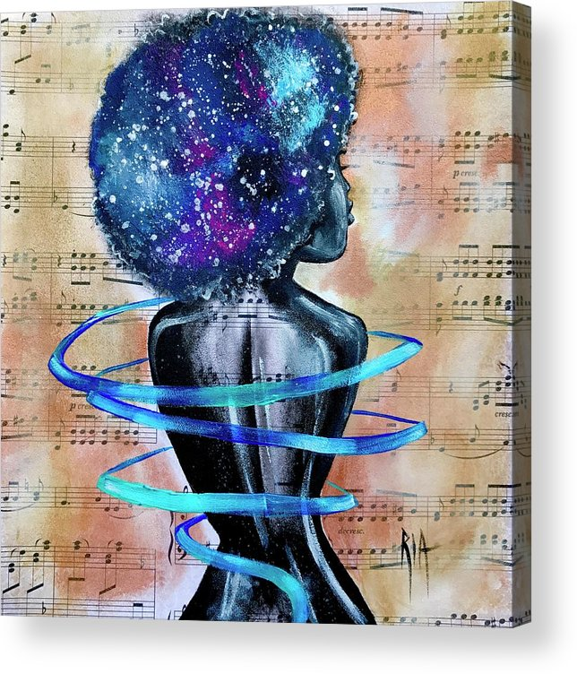 Space Acrylic Print featuring the painting I am her... She is Me by Artist RiA