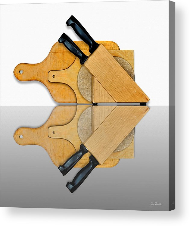 Kitchen Acrylic Print featuring the photograph Knife Block and Cutting Boards by Joe Bonita