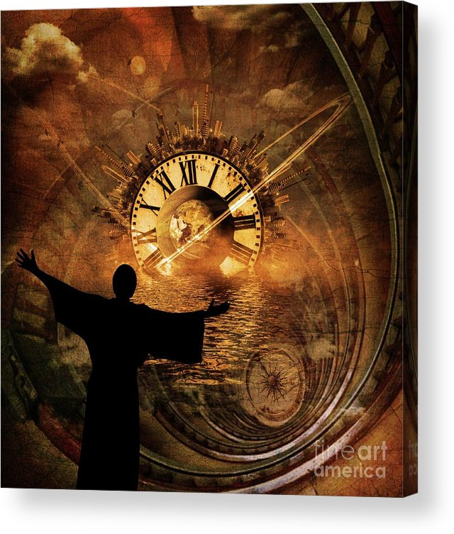 Doctor Acrylic Print featuring the digital art Master Of Time by Esoterica Art Agency