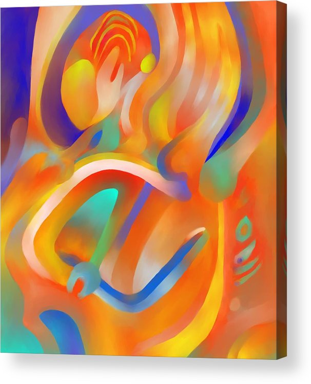 Colorful Acrylic Print featuring the digital art Musical Enjoyment by Peter Shor