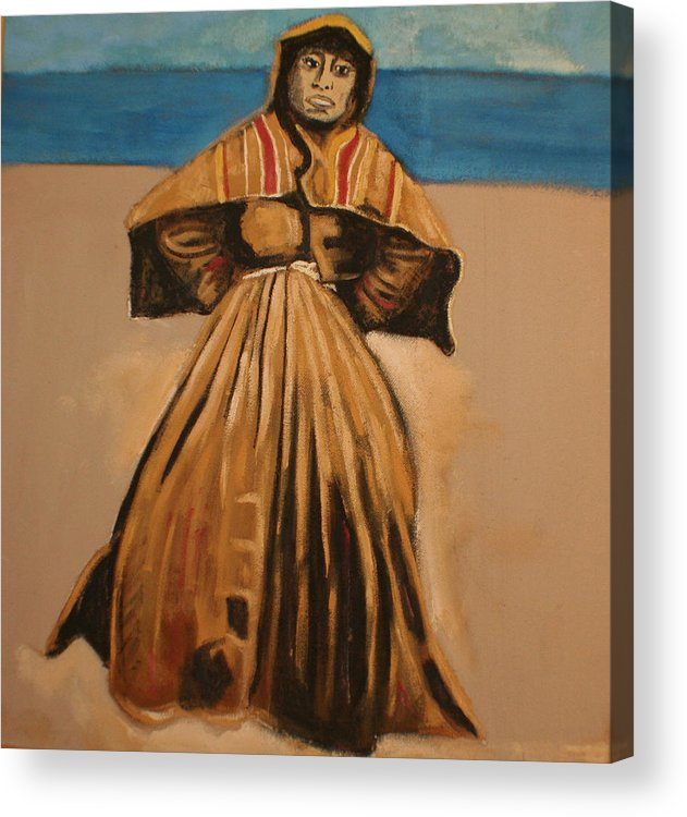 Acrylic Print featuring the painting Witch by the sea by Biagio Civale