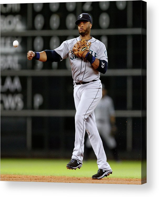 American League Baseball Acrylic Print featuring the photograph Seattle Mariners V Houston Astros by Bob Levey