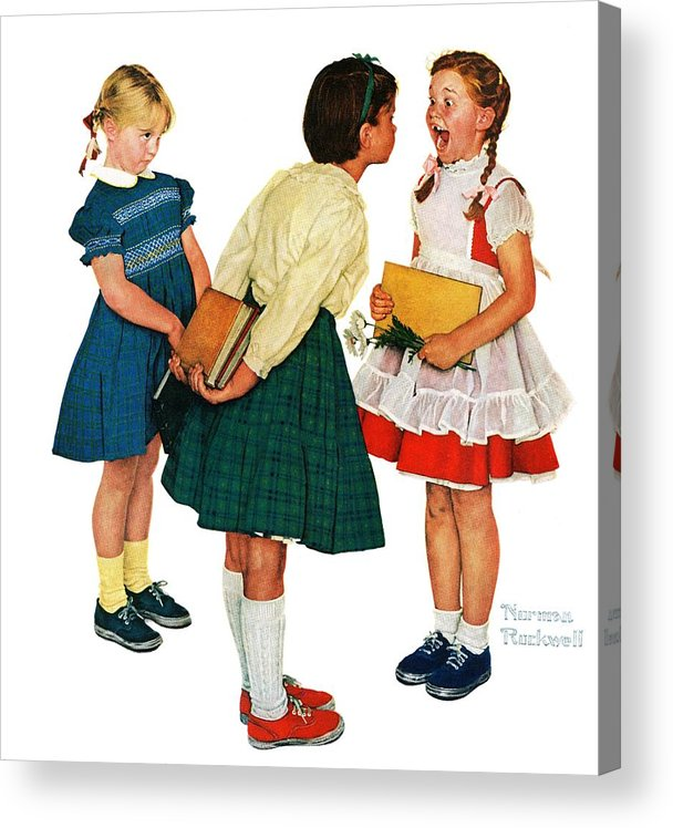 Books Acrylic Print featuring the drawing Missing Tooth by Norman Rockwell