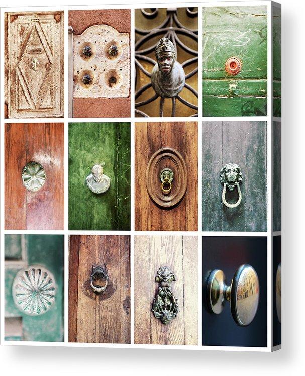 Veneto Acrylic Print featuring the photograph Venetian Door Knobs by Dori Oconnell