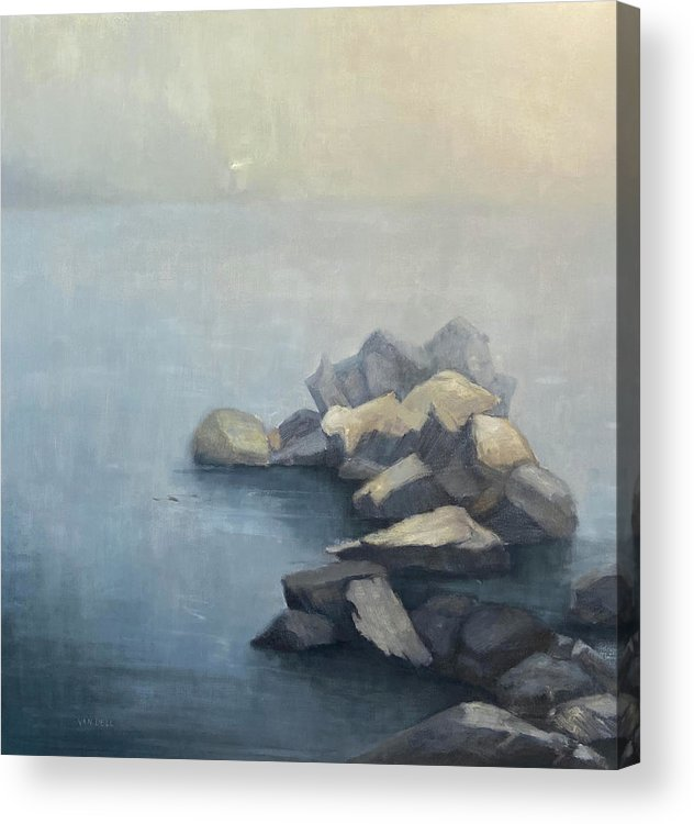 Acrylic Print featuring the painting Beacon by Mary Jo Van Dell