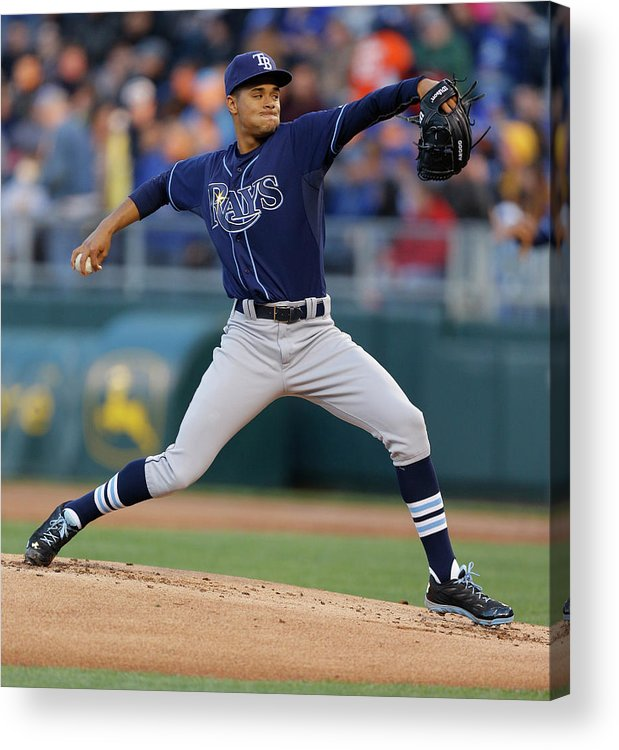 American League Baseball Acrylic Print featuring the photograph Chris Ray by Ed Zurga