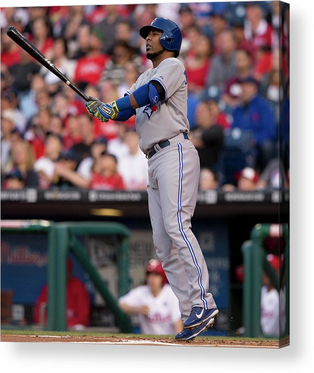 Second Inning Acrylic Print featuring the photograph Edwin Encarnacion by Mitchell Leff