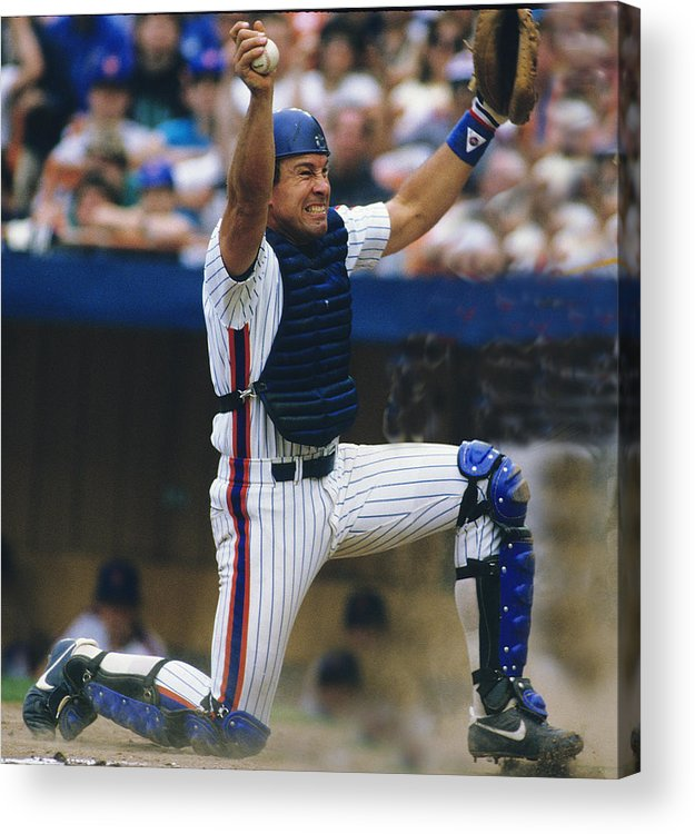 1980-1989 Acrylic Print featuring the photograph Gary Carter by Ronald C. Modra/sports Imagery