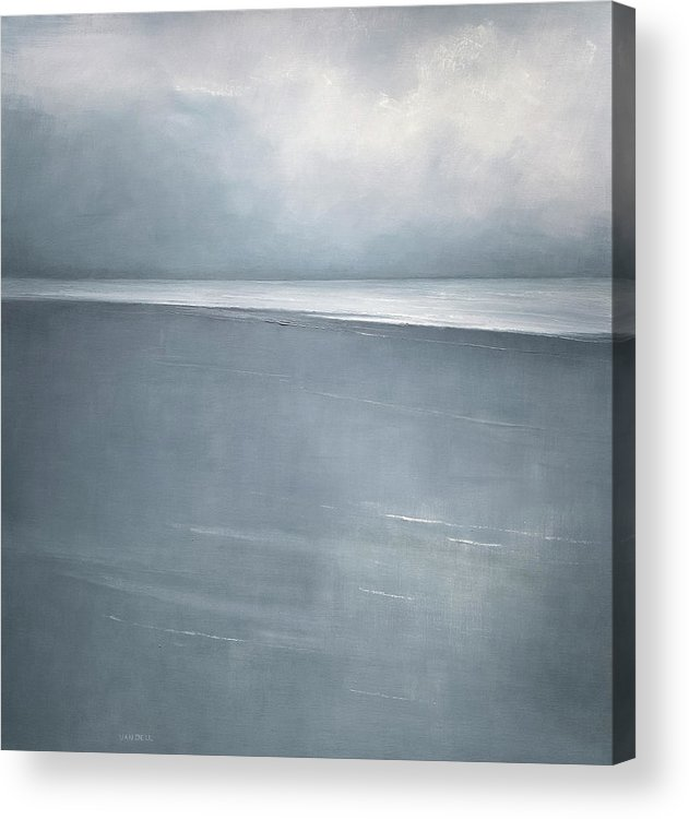 Acrylic Print featuring the painting Pale Indigo by Mary Jo Van Dell