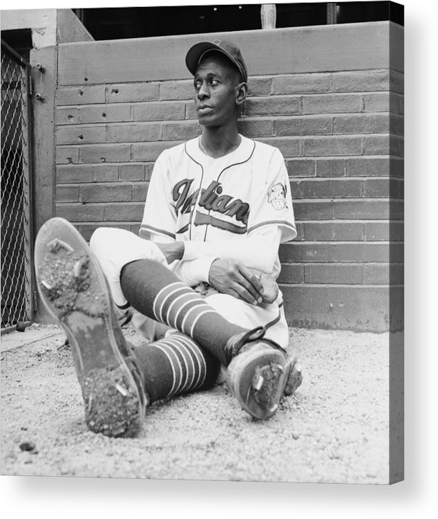 Timeincown Acrylic Print featuring the photograph Satchel Paige by George Silk