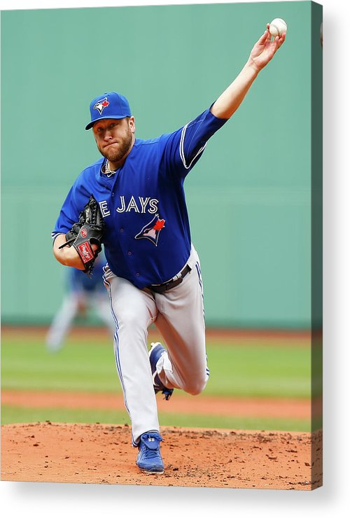 American League Baseball Acrylic Print featuring the photograph Toronto Blue Jays V Boston Red Sox 1 by Jared Wickerham