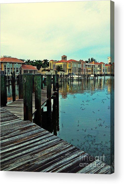 Southwest Florida Acrylic Print featuring the photograph View From The Boardwalk by K Simmons Luna