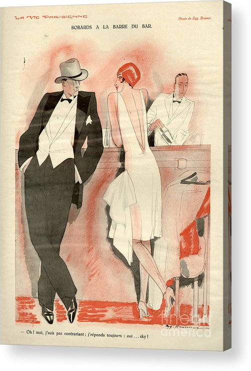 France Acrylic Print featuring the drawing 1920s France La Vie Parisienne Magazine by The Advertising Archives