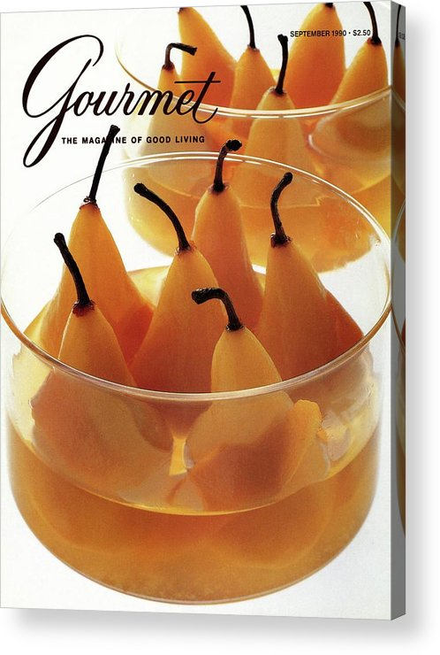 Food Acrylic Print featuring the photograph A Gourmet Cover Of Baked Pears by Romulo Yanes