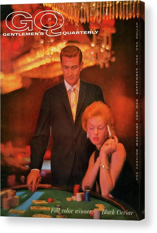 Fashion Acrylic Print featuring the photograph A Gq Cover Of Models At Casino De Capri In Havana by Richard Waite