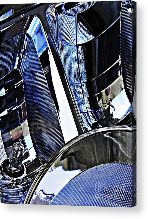 Headlight Acrylic Print featuring the photograph Auto Headlight 17 by Sarah Loft