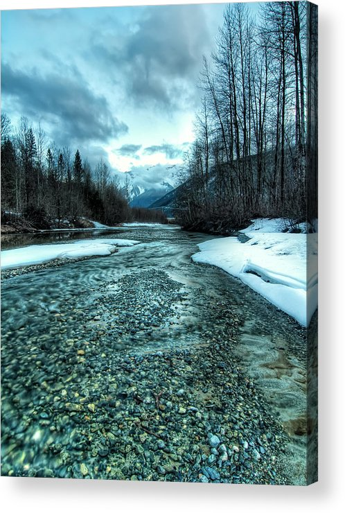 Beautiful Acrylic Print featuring the photograph Blue Creek by James Wheeler