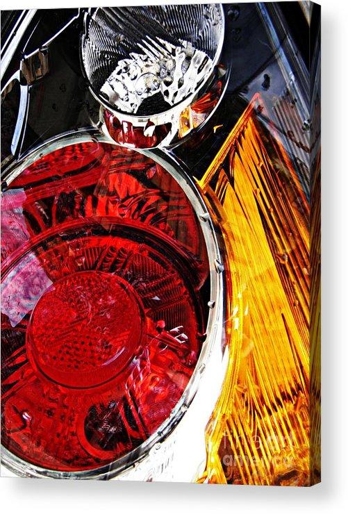 Glass Acrylic Print featuring the photograph Brake Light 11 by Sarah Loft