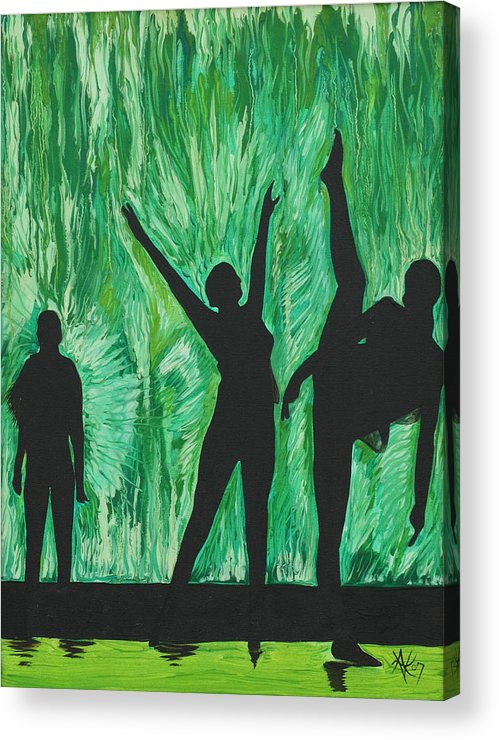 Abstract Acrylic Print featuring the painting Dance by Aimee Vance