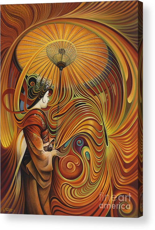 Dynamic Acrylic Print featuring the painting Dynamic Oriental by Ricardo Chavez-Mendez