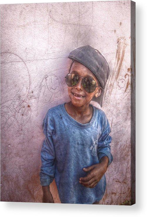 6 Acrylic Print featuring the photograph Ethiopian Boy by Jordan Kaplan