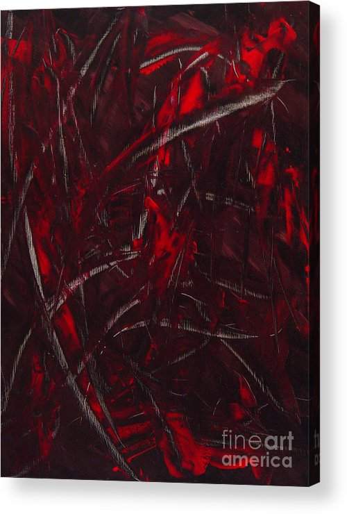Abstract Acrylic Print featuring the painting Expectations Red by Dean Triolo