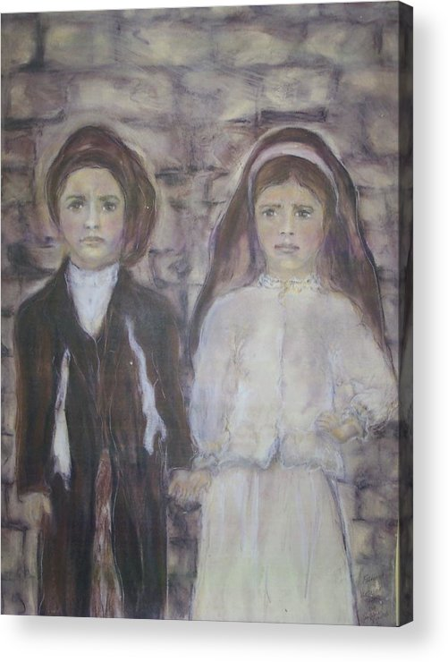 Catholic Art Acrylic Print featuring the painting Fatima by Suzanne Reynolds
