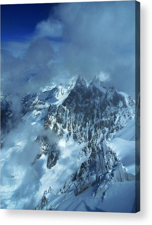 Alps Acrylic Print featuring the photograph French Alps by Frank Wilson