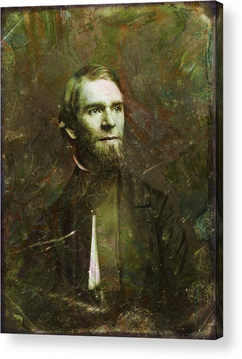Daguerrotype Acrylic Print featuring the painting Handsome Fellow 2 by James W Johnson