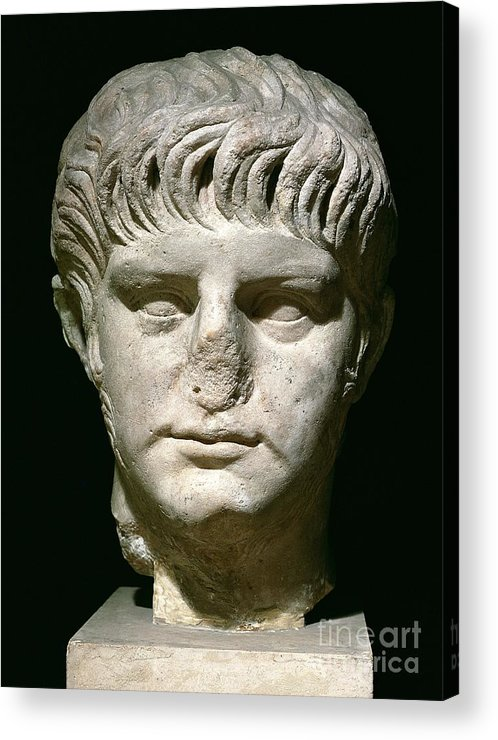 Roman Emperor Acrylic Print featuring the sculpture Head Of Nero by Anonymous