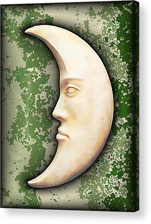 Moon Acrylic Print featuring the digital art I See The Moon 3 by Wendy J St Christopher