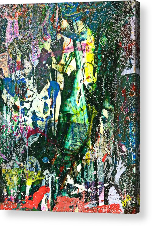 Mixed Media Acrylic Print featuring the painting Joe Meets Mary In The Woods by Douglas G Gordon