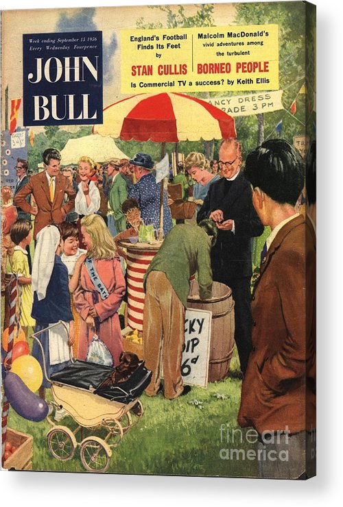 1950�s Acrylic Print featuring the drawing John Bull 1956 1950s Uk Schools by The Advertising Archives
