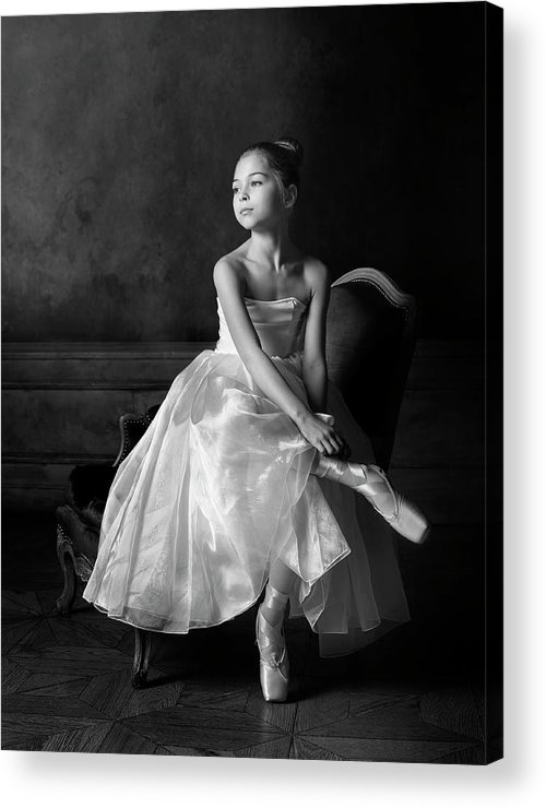 Portrait Acrylic Print featuring the photograph Little Ballet Star by Victoria Ivanova
