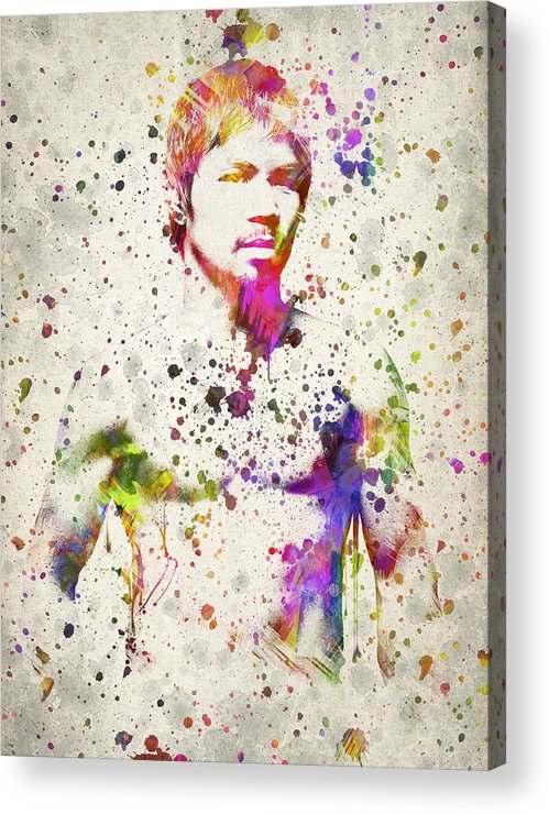 Manny Pacquiao Acrylic Print featuring the digital art Manny Pacquiao by Aged Pixel