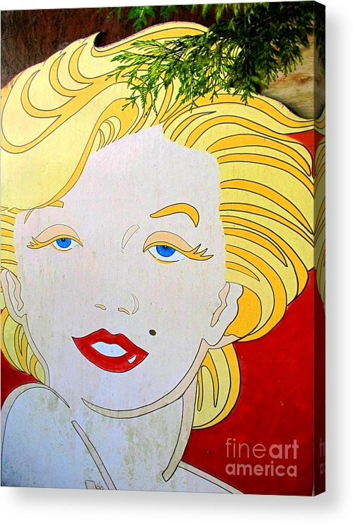 Woman Acrylic Print featuring the photograph Marilyn by Ethna Gillespie