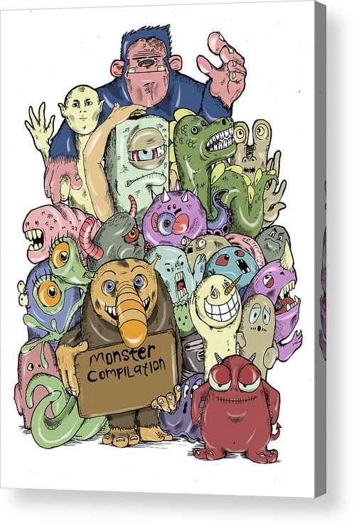 Moster Acrylic Print featuring the digital art Monster Compilation by Murni Ch