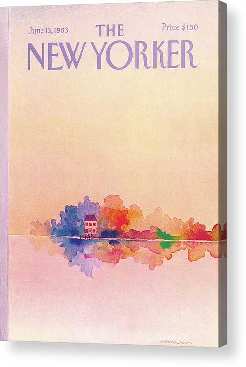 Reflection Acrylic Print featuring the painting New Yorker June 13th, 1983 by Susan Davis