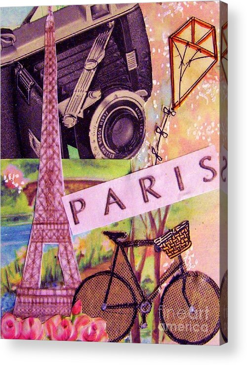 Paris Acrylic Print featuring the drawing Paris by Eloise Schneider