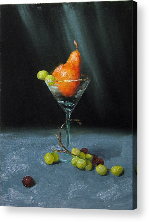Pear Acrylic Print featuring the painting Pear Martini by Jason Walcott