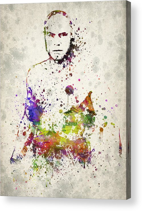 Randy Couture Acrylic Print featuring the drawing Randy Couture by Aged Pixel