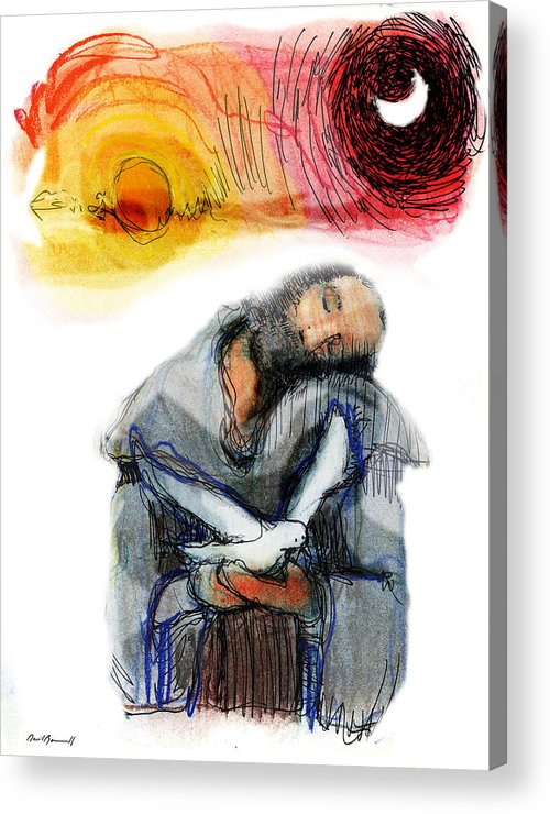 Religious Art Acrylic Print featuring the painting Saint Francis by Daniel Bonnell